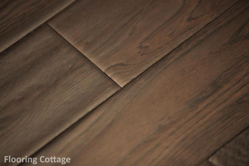 Dolce Solid Oak Hand Scraped Antique Coffee Wood -11