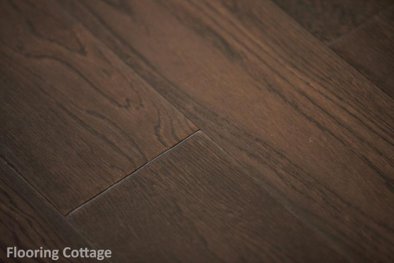 Dolce Solid Oak Hand Scraped Antique Coffee Wood -21