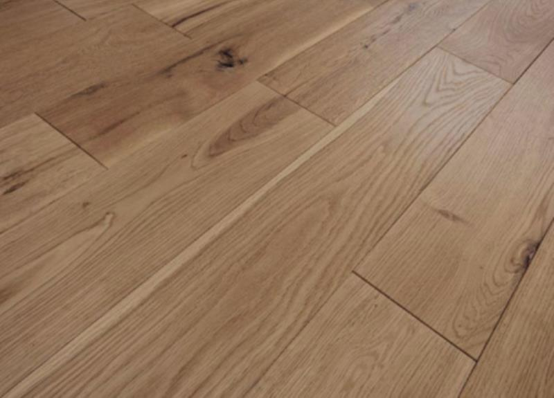 Solid 20mm x 140mm Brushed Oiled Oak Flooring-01